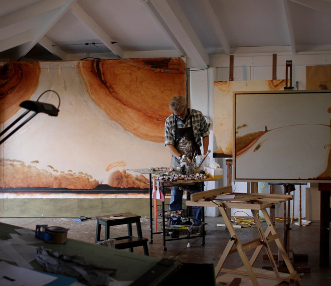 andrew carter in his studio
